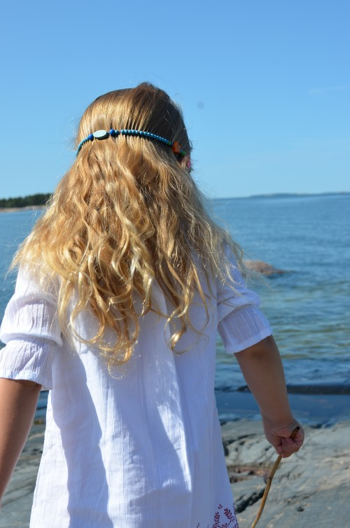 A little hippy child last summer on the island. Her hair was so curly.