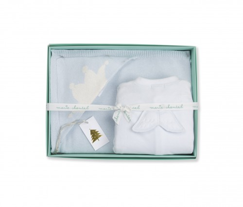 Marie-Chantal - AW15 - angel wing onesie & Tino blanket gift box