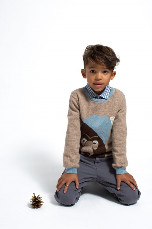 Marie-Chantal - AW15 - bear sweater boy