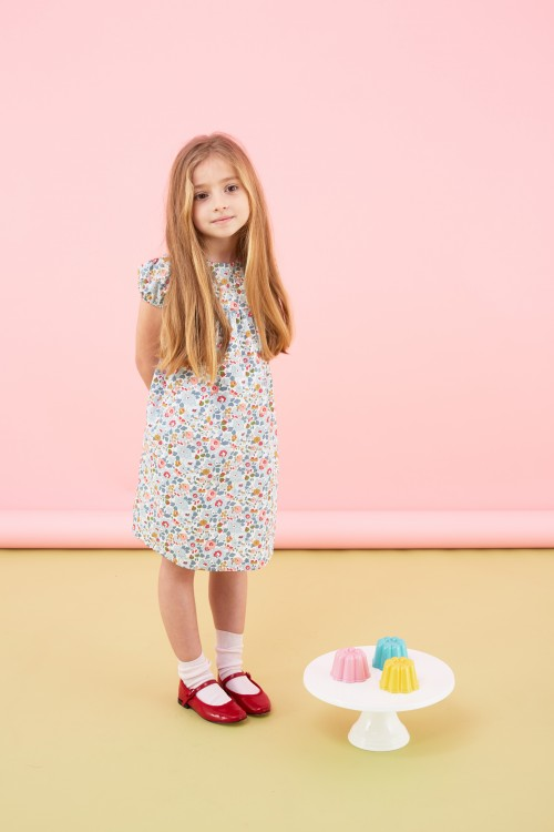 Marie-Chantal - SS16 - short sleeved flower print dress girl