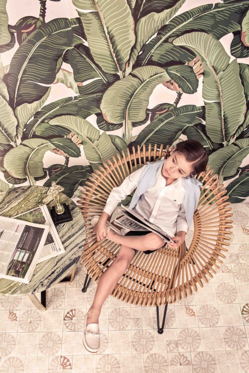 Marie-Chantal - SS17 - low res - summer cashmere sweater, Tino shirt, formal cotton shorts boy