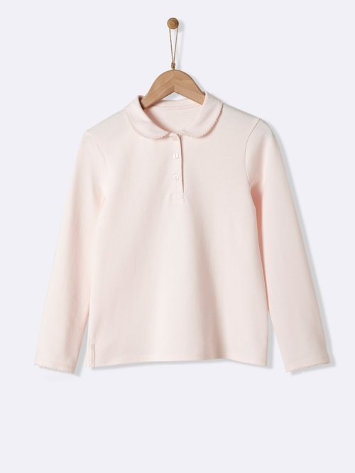 girls-pique-knit-polo-shirt