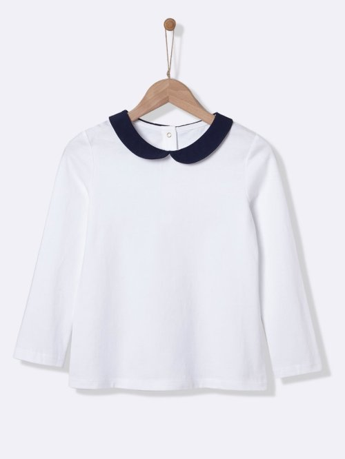 girls-t-shirt-with-peter-pan-collar